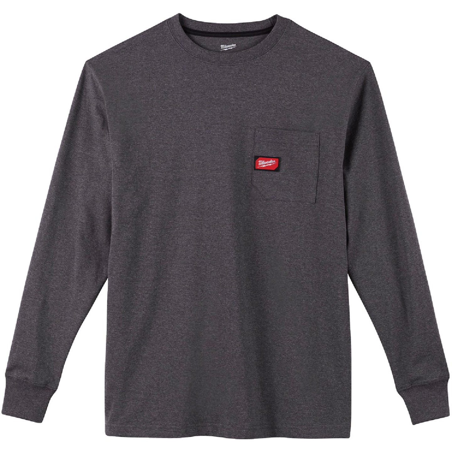 Milwaukee XL Gray Long Sleeve Men's Heavy-Duty Pocket Shirt Image 3