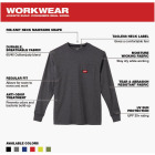 Milwaukee XL Gray Long Sleeve Men's Heavy-Duty Pocket Shirt Image 2
