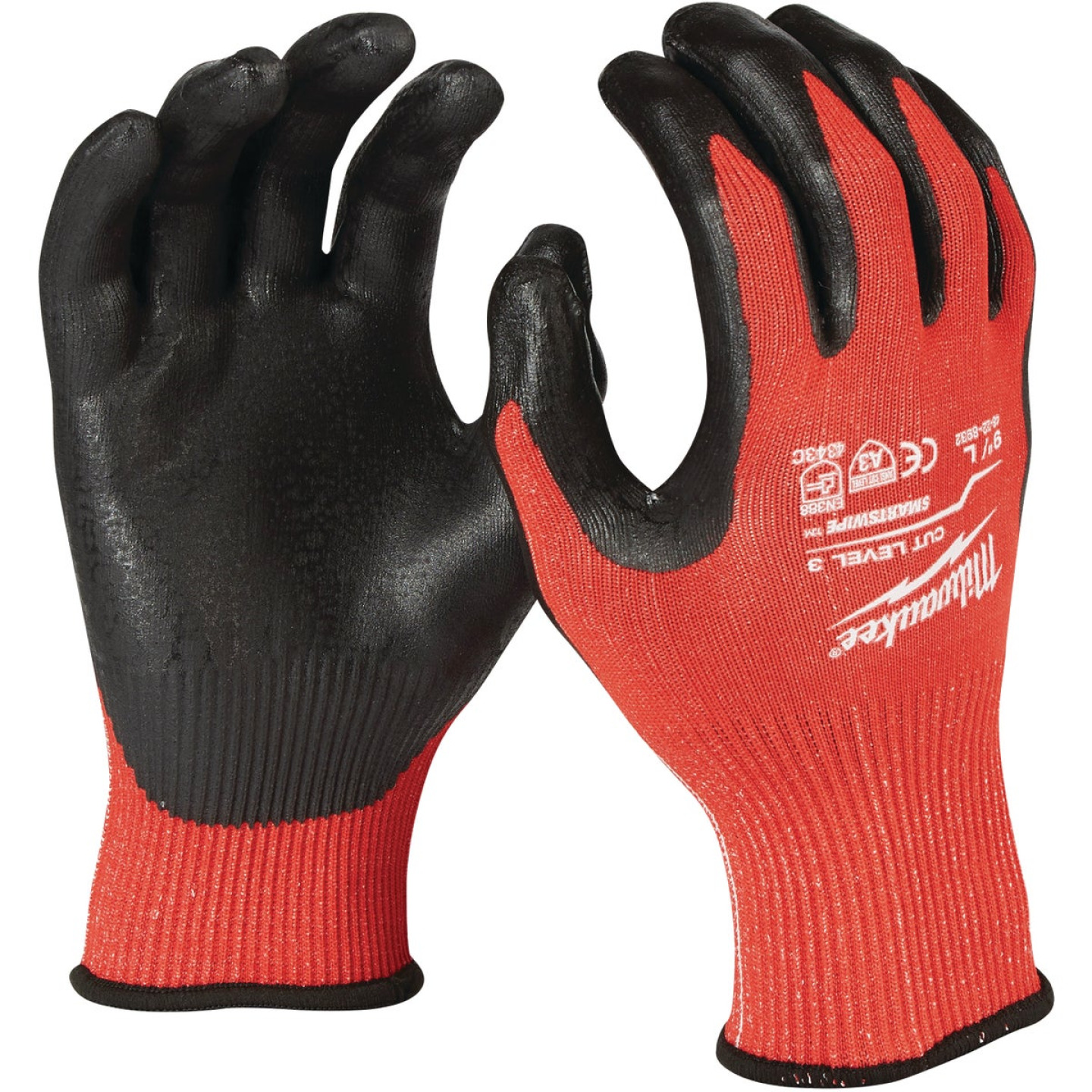 Milwaukee Men's Large Nitrile Coated Cut Level 3 Work Glove Image 1