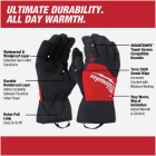Milwaukee Men's Medium Nylon Winter Performance Glove Image 3