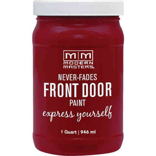 Modern Masters Acrylic Satin Front Door Paint, Passionate, 1 Qt.