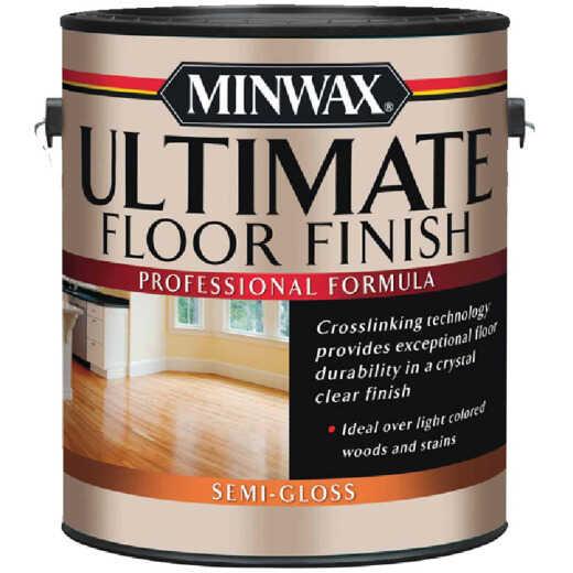 Minwax ULTIMATE 1 Gallon Semi Gloss Water-Based Polyurethane Floor Finish