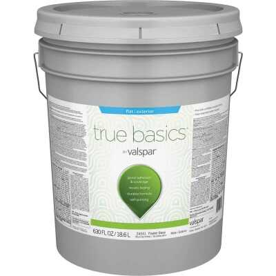 True Basics by Valspar Flat Exterior Paint, 5 Gal., Pastel Base