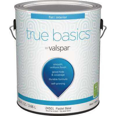 True Basics by Valspar Flat Interior Wall Paint, 1 Gal., Pastel Base
