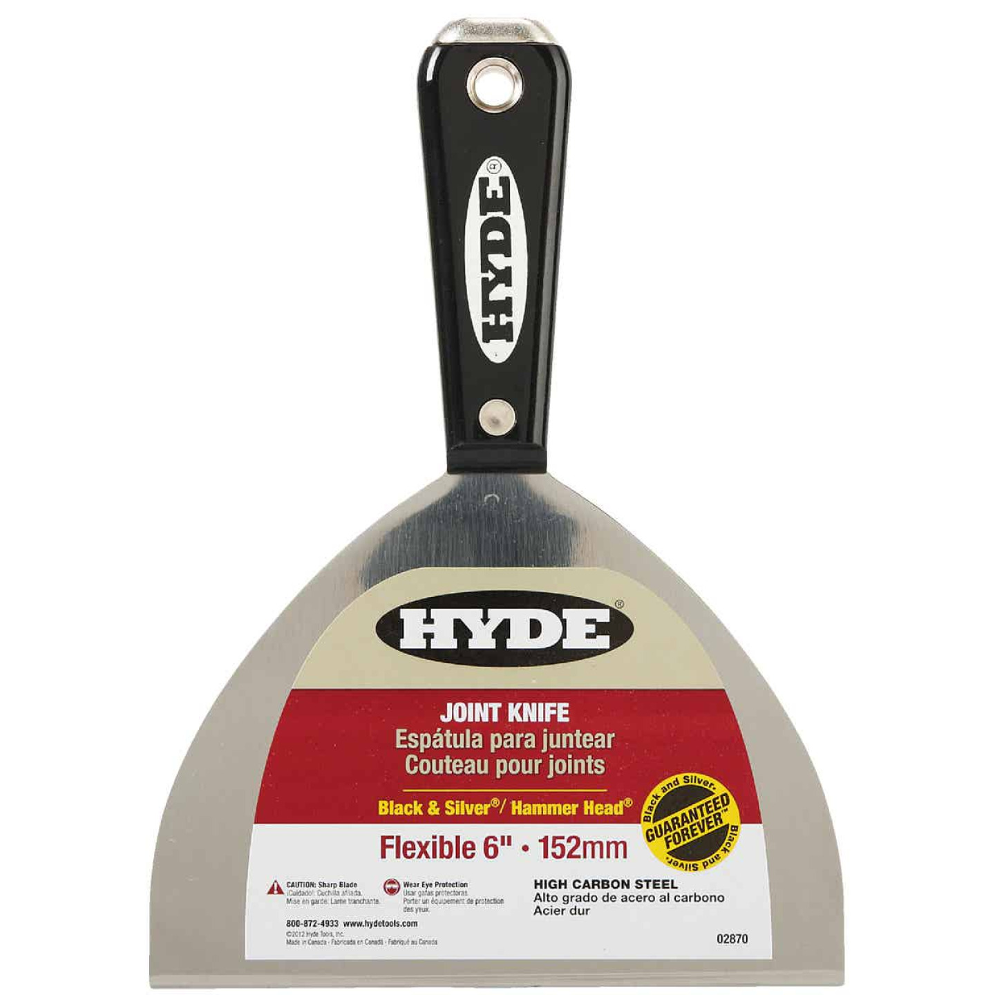 Hyde Black & Silver 6 In. High-Carbon Steel Joint Knife Image 1