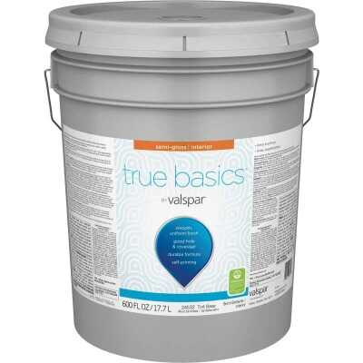 True Basics by Valspar Semi-Gloss Interior Paint, 5 Gal., Tint Base