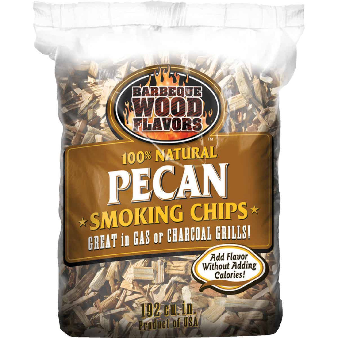 Barbeque Wood Flavors 192 Cu. In. Pecan Smoking Chips Image 1