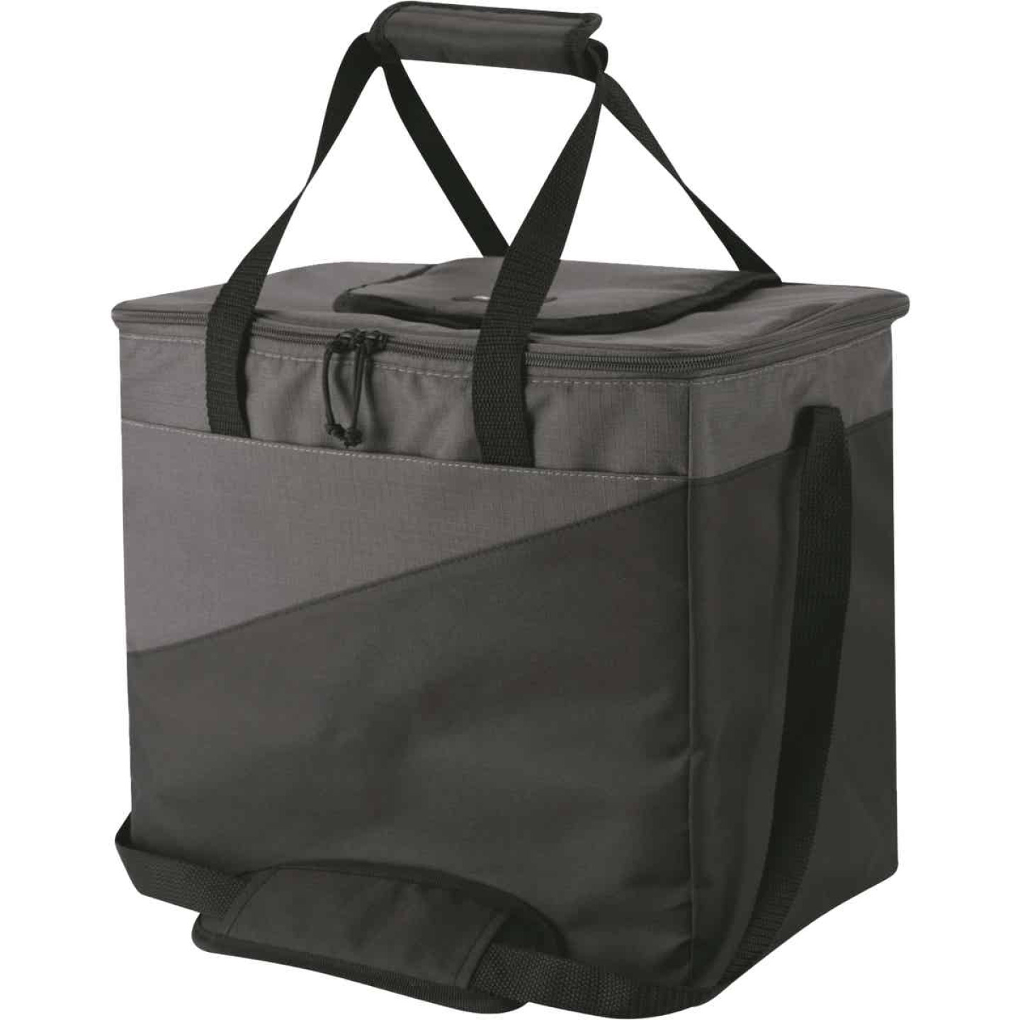 Igloo Collapse & Cool 36-Can Soft-Side Cooler, Gray & Black Image 1