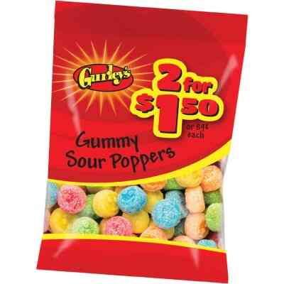 Gurley's Assorted Fruit Flavors 2.25 Oz. Sour Poppers Gummy
